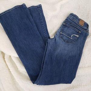 American Eagle slim boot cut denim jeans size 4